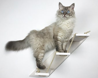Cat stair with 3 or 5 steps – Goes up Right | Cat furniture | AthletiCat - Made in Italy