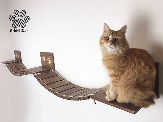 pont pour chats avec pattes entaill s version double etsy. Black Bedroom Furniture Sets. Home Design Ideas