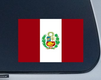 Decals Peru Flag 40 Removable Stickers Peruvian Party Favors