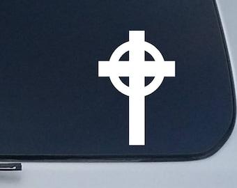 Celtic Cross Sticker Decal Window Vinyl