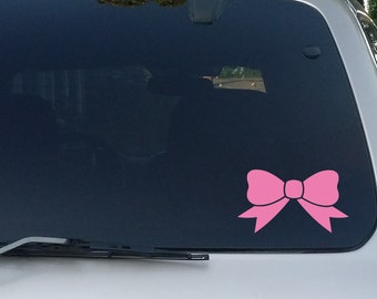 Cute Bow Decal wall decal wine glass decal car decal bow laptop decal tumbler decal