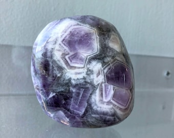 Large Amethyst Healing Crystal Stone Charged w/ Reiki Hand Carved Palm Stone from Chakra Healing Shop