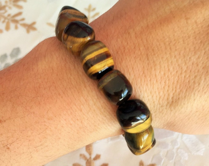 Tiger Eye Bracelet, Healing Crystal Bracelet Jewelry