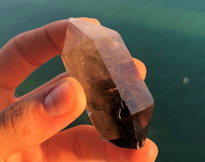 Smoky Quartz Double Point Healing Crystals and Stones infused with Reiki