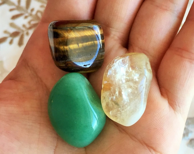 10 Money Crystals Set Stones for Prosperity and Success / Wholesale Crystals and Stones / Gift Ideas