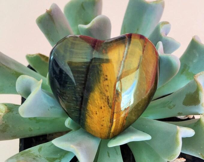 Tigers Eye Crystal Heart