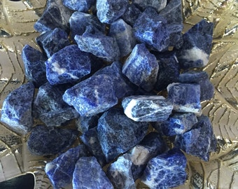 2 RAW Sodalite Healing Crystal Stones Perfect for Reiki, Crystal Grids, Chakras