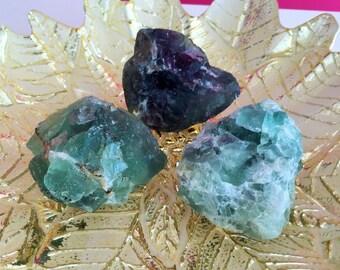 RAW Fluorite/Green Fluorite, Healing Crystal Stones