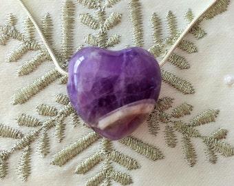 Amethyst HEART Necklace Set
