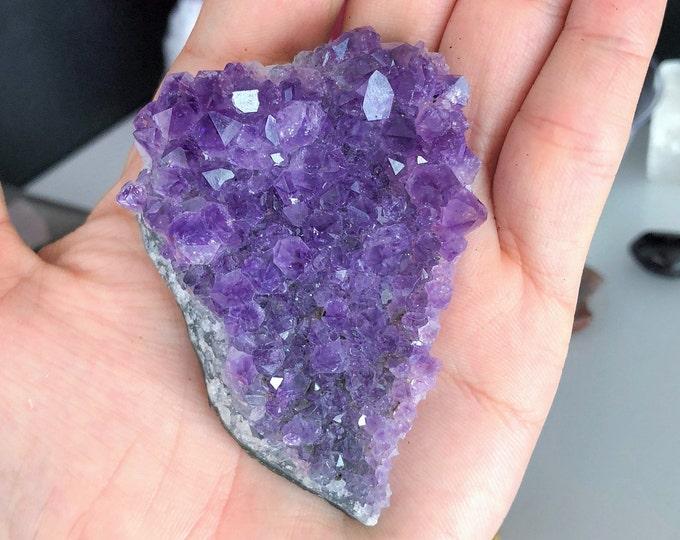 Amethyst Crystal Cluster from Uruguay / Amethyst Geode w/ Reiki