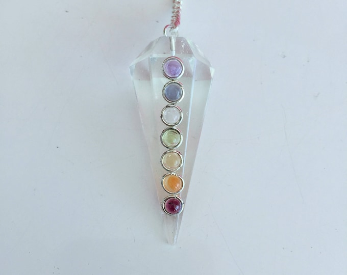 Chakra Necklace Pendulum, Reiki Jewelry/ Boho Chic Jewelry