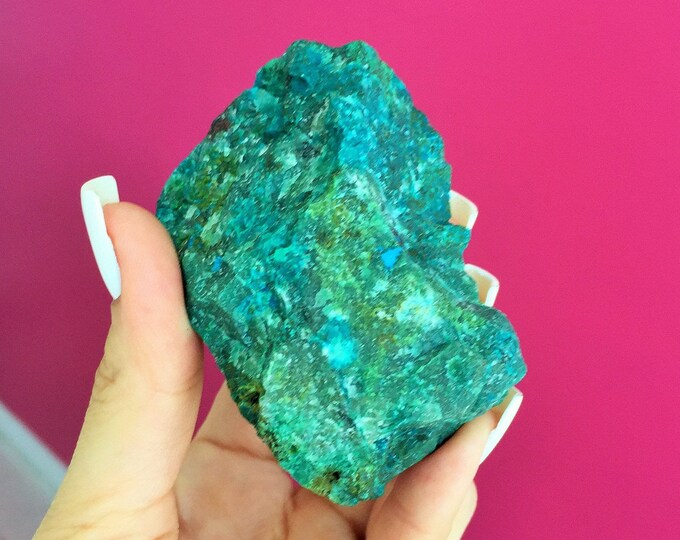 RAW Chrysocolla SMALL Healing Crystal Stone Perfect for Chakras, Healing, Reiki