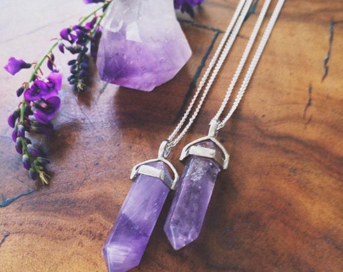 Amethyst Pendulum Pendant Crystal Set