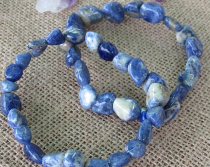 Blue Sodalite Healing Crystal Bracelet Jewelry w/ Reiki
