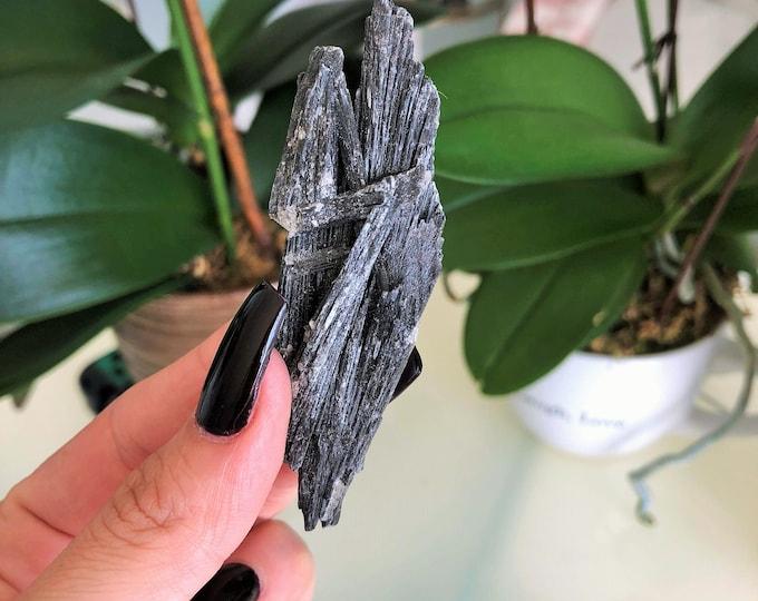 Black Kyanite Healing Crystal Perfect for Chakras, Aura, Meditation