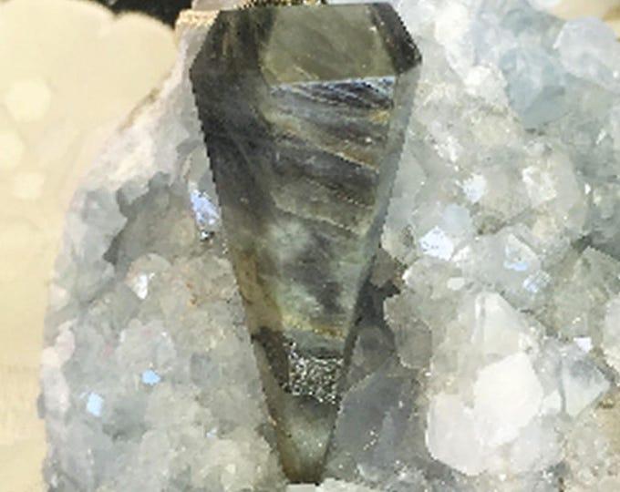 Gray Agate Pendulum Perfect for Dowsing, Healing, Chakras, Reiki