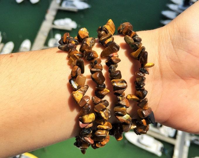 Tigers Eye Bracelet / Healing Tigers Eye Jewelry / Mens bracelet