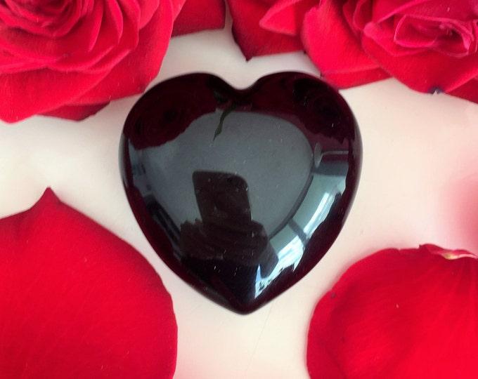Black Obsidian Heart Perfect Girlfriend Gift