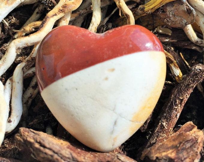 Jasper Crystal Heart infused with Reiki
