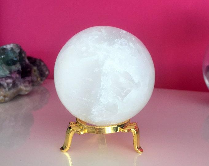 Large Crystal Ball, Selenite Crystal Sphere