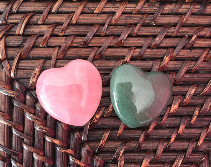 Love Crystal Set Gift for Her, Anxiety Relief, Natural Stone Gemstone, Wicca