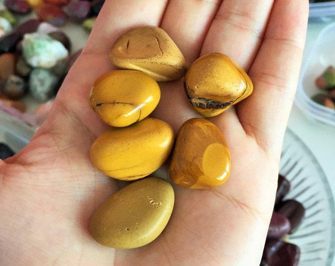Yellow Mookaite Jasper Crystals