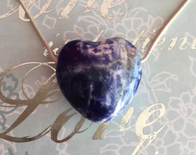 Heart Crystal Pendant Necklace Jewelry, Healing Crystals and Stones,