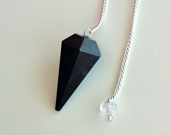Healing Crystal Necklace, Pendulum, Black Tourmaline Pendulum Great Protection AMULET