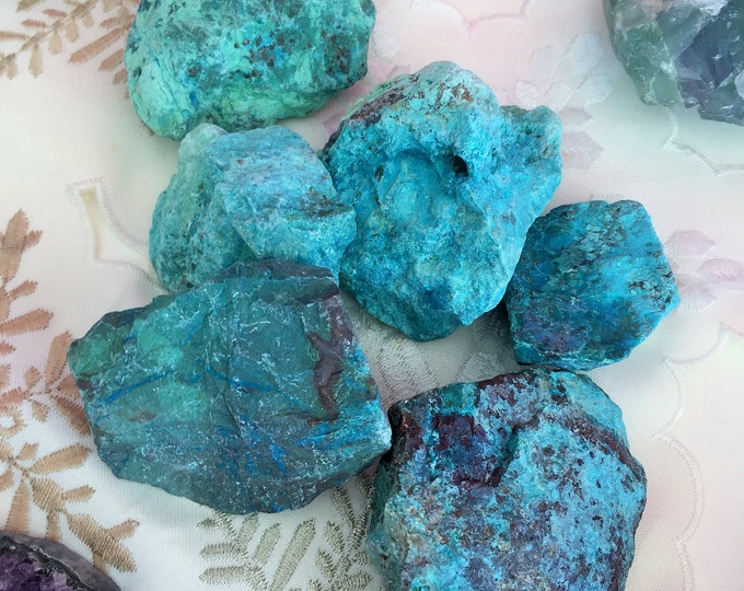 Small Chrysocolla Raw Healing Stone Perfect for Chakras, Healing, Reiki