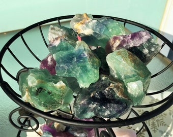 Green Rainbow Fluorite RAW Healing Crystals Stones,  Easter Basket, Egg Decoration Eggs, Spring Decoration