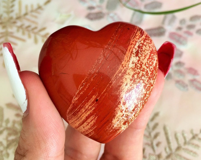 Large Picasso Jasper HEART Crystal Perfect Girlfriend Gift