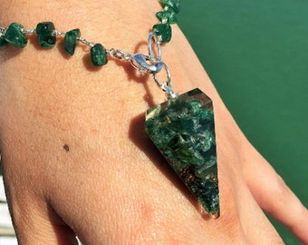 GREEN AVENTURINE  Healing Orgone Jewelry Set