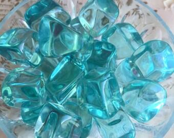 Bulk Crystals 10 AQUA Obsidian Crystals infused w/ Reiki,  Healing Crystals and Stones