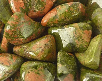 10 Unakite, Wholesale Crystals and Stones