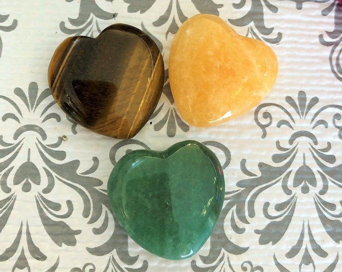 Money Crystal Heart Set for Prosperity and Success