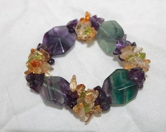Fluorite Healing Bracelet/ Chakra Bracelet/Yoga Jewelry w/ Reiki