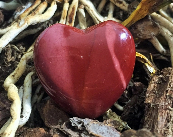 Red Mookaite Heart infused with Reiki