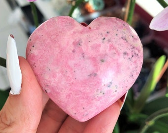 Pink Rhodonite Crystal Heart infused w/ Love