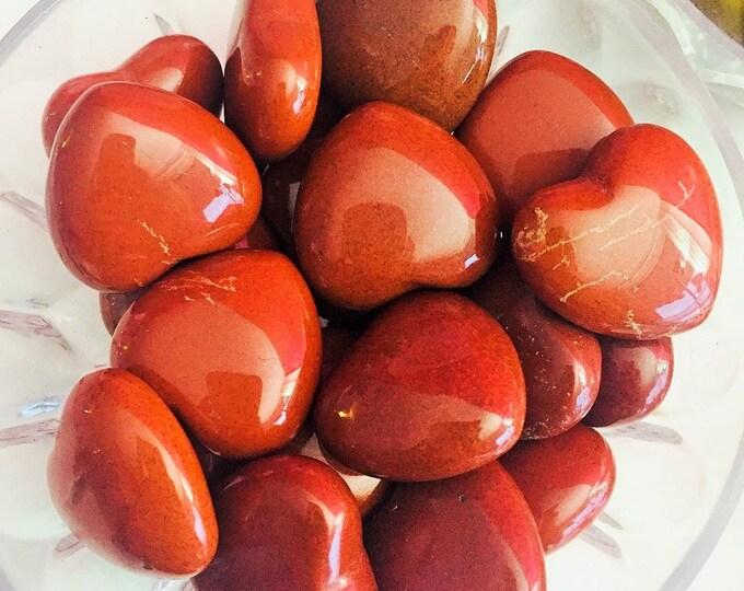 Red Jasper Heart Crystals