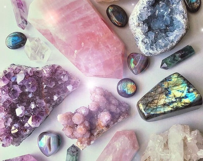 5 Healing Crystals for Beginners, Mystery Crystal Box, Chakra Surprise Stones