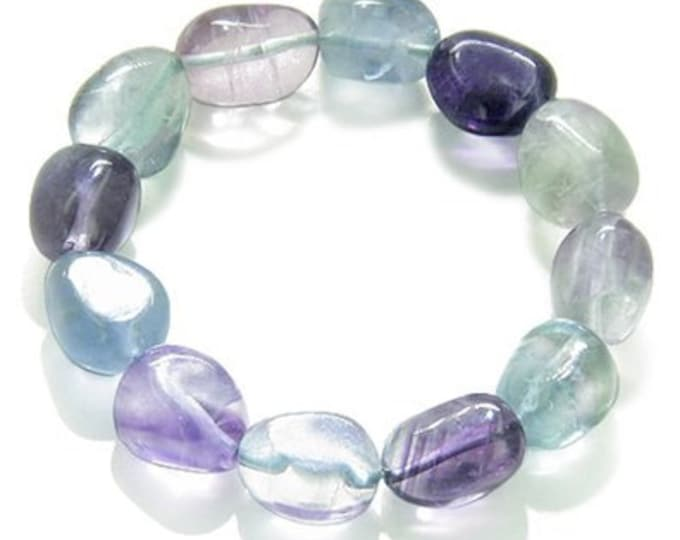 Fluorite Crystal Bracelet / Chakra Healing Bracelet infused with Reiki- Yoga Jewelry