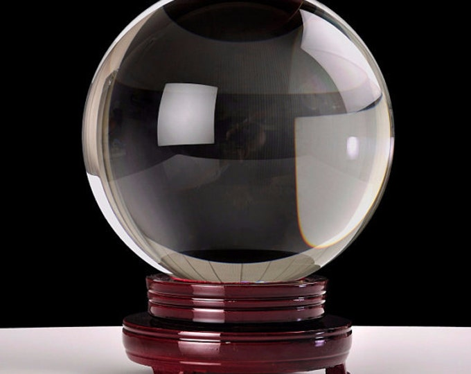 Large Clear Crystal Ball, 100mm Gazing Sphere