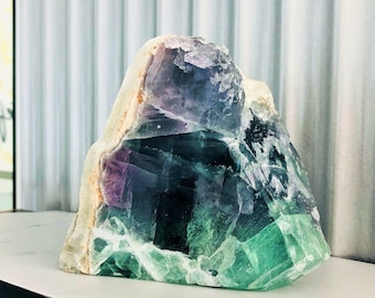 Fluorite Crystal Tower Stone Charged with Reiki