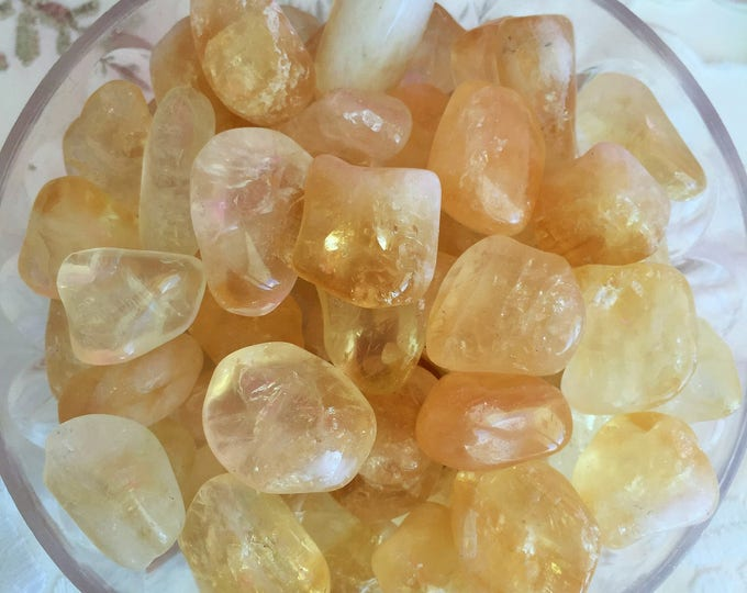10 Citrine Stones perfect for Crystal Gridd, Meditation