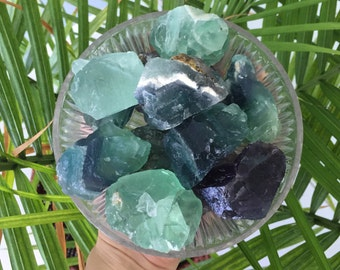 Rainbow Green Fluorite RAW Stones