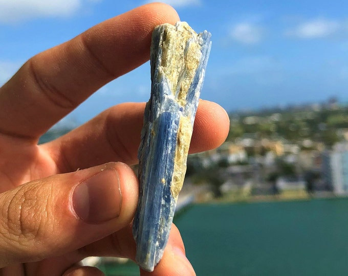 Blue Kyanite, Healing Crystals and Stones, Wicca Meditation Home Altar Tool, Chakra Healing Shop Miami