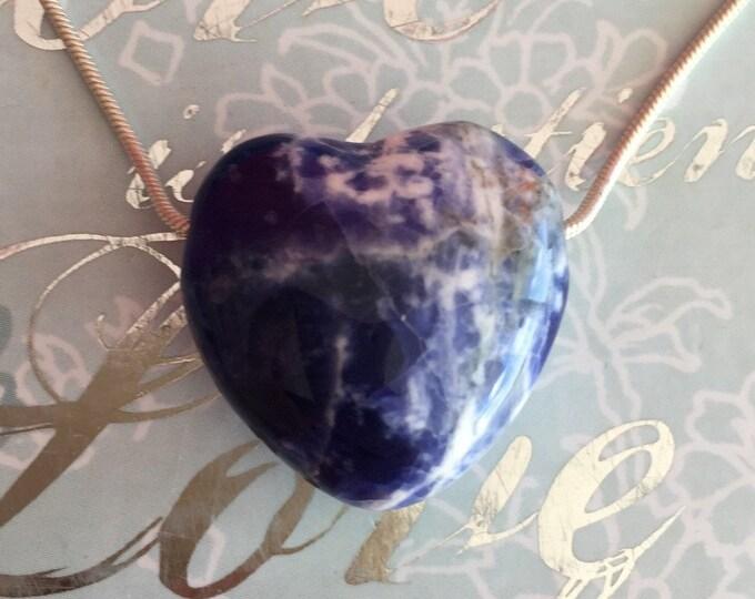 SODALITE Pendant Heart Necklace