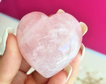 Large Rose Quartz Heart  Perfect for LOVE and Relationships