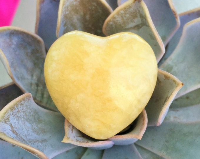 Yellow Aventurine Heart charged with Love and Reiki