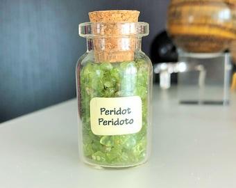 Green Peridot Crystal Healing Love Stone